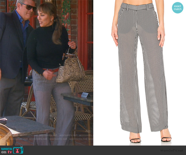 Miles Pants by A.L.C. worn by Kelly Dodd  on The Real Housewives of Orange County