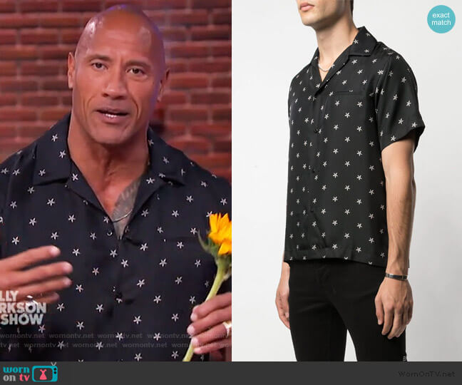 Star Shirt by Amiri worn by Dwayne Johnson