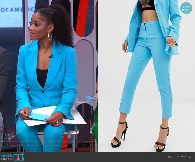 Pop Slim Suit Pants by Asos worn by Keke Palmer  on Good Morning America