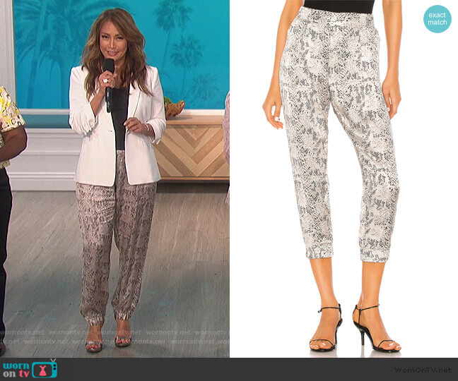 Snake Print Jogger by ATM Anthony Thomas Milillo worn by Carrie Inaba  on The Talk