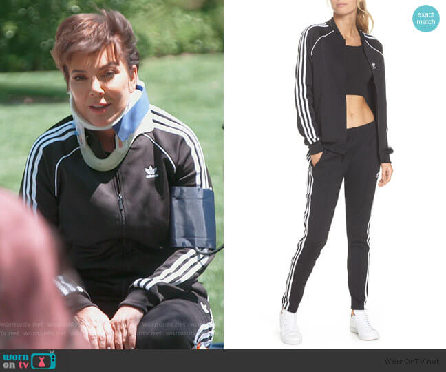 SST Track Jacket and Pants by Adidas worn by Kris Jenner  on Keeping Up with the Kardashians