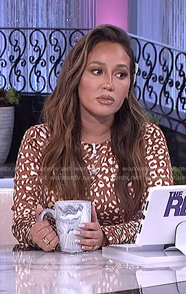 Adrienne's brown leopard print dress on The Real