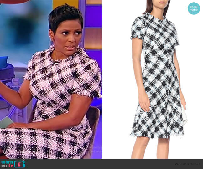 Checked Tweed Dress by Alexander Mcqueen worn by Tamron Hall  on Tamron Hall Show