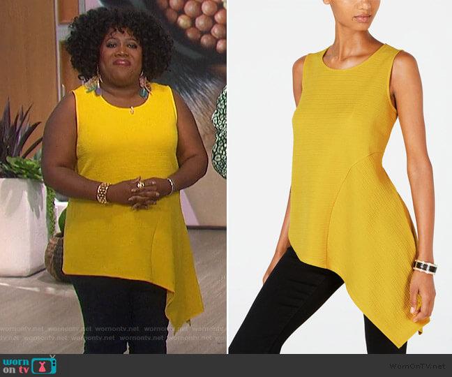 Asymmetrical-Hem Top by Alfani worn by Sheryl Underwood  on The Talk