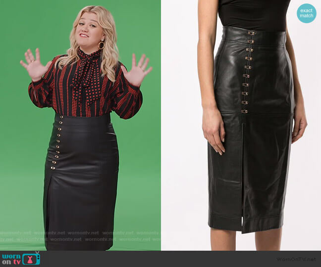 Sweet street midi skirt by Alice McCall worn by Kelly Clarkson  on The Kelly Clarkson Show