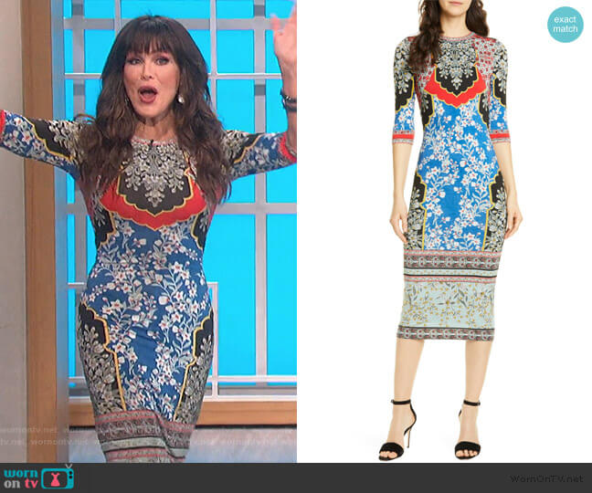 Delora Dress by Alice + Olivia worn by Marie Osmond  on The Talk