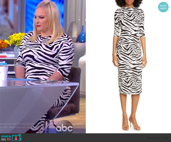 Delora Dress in Tiger Stripe by Alice + Olivia worn by Meghan McCain  on The View