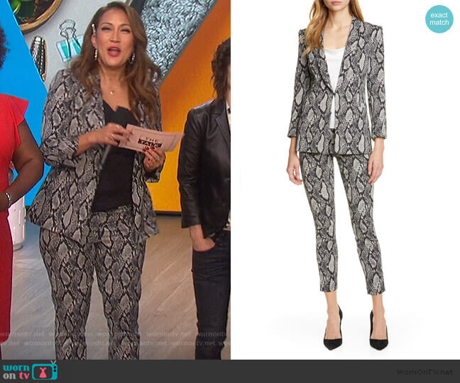 Richie Snake Print Jacket and Pants by Alice + Olivia worn by Carrie Inaba  on The Talk