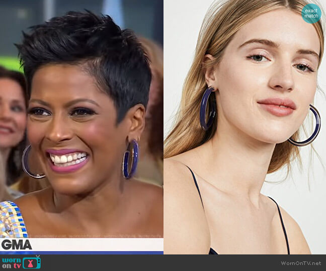 Medium Jelly Hoops by Alison Lou worn by Tamron Hall on GMA