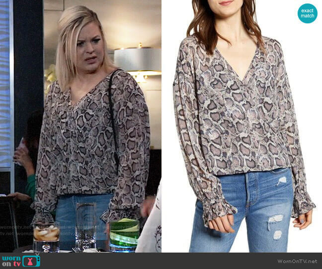 All Saints Penny Misra Top worn by Maxie Jones (Kirsten Storms) on General Hospital