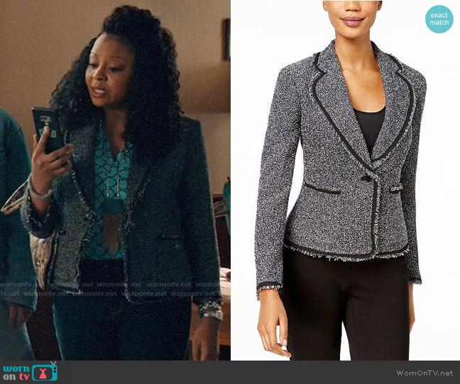 Anne Klein Fringed Tweed Blazer  worn by Adams (Tymberlee Hill) on Perfect Harmony