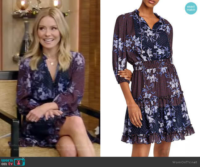 Arlene Dress by Shoshanna worn by Kelly Ripa  on Live with Kelly & Ryan