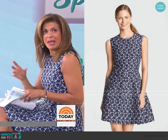 Austin Jacquard Dress by Draper James worn by Hoda Kotb  on Today