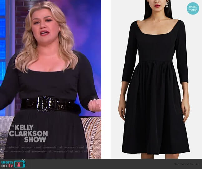 Tech-Poplin Midi-Dress by Barneys New York worn by Kelly Clarkson  on The Kelly Clarkson Show