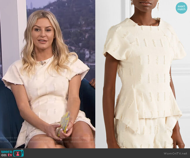 Olympia Top by Cult Gaia worn by Morgan Stewart  on E! News