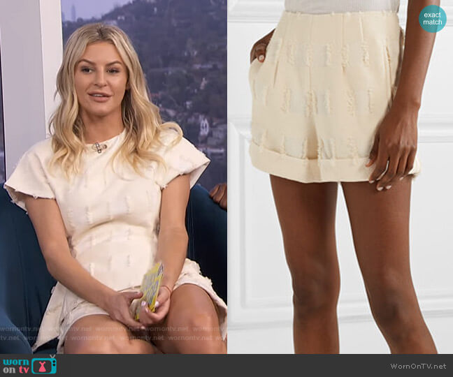 Shadi Shorts by Cult Gaia worn by Morgan Stewart  on E! News