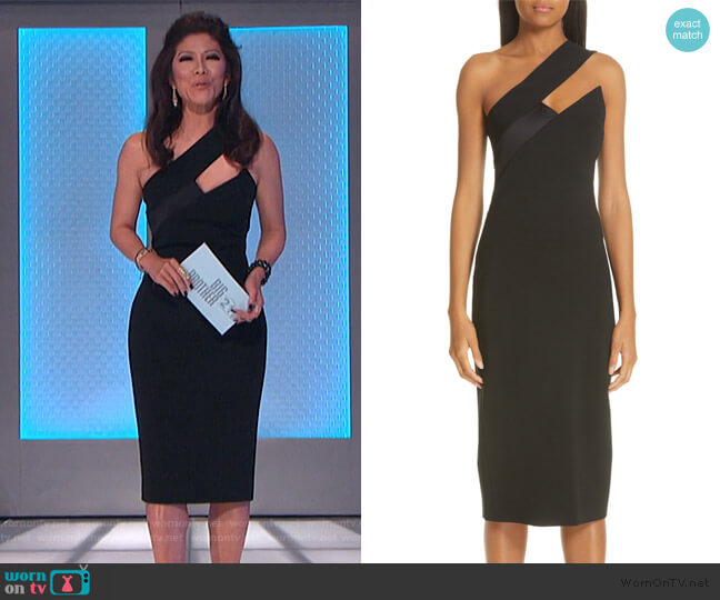 Asymmetrical Cutout Pencil Dress by Cushnie worn by Julie Chen  on Big Brother
