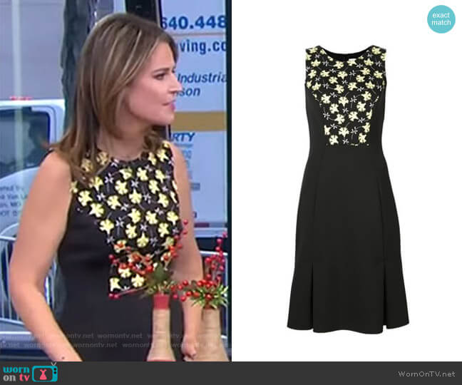Floral Panel Dress by Carolina Herrera worn by Savannah Guthrie  on Today