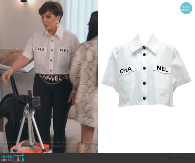 2019 Summer Button Down Blouse by Chanel worn by Kris Jenner  on Keeping Up with the Kardashians