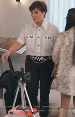 Kris's Chanel shirt on Keeping Up with the Kardashians
