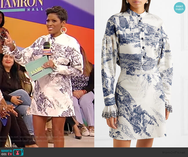 Printed cotton-twill mini dress by Chloe worn by Tamron Hall  on Tamron Hall Show