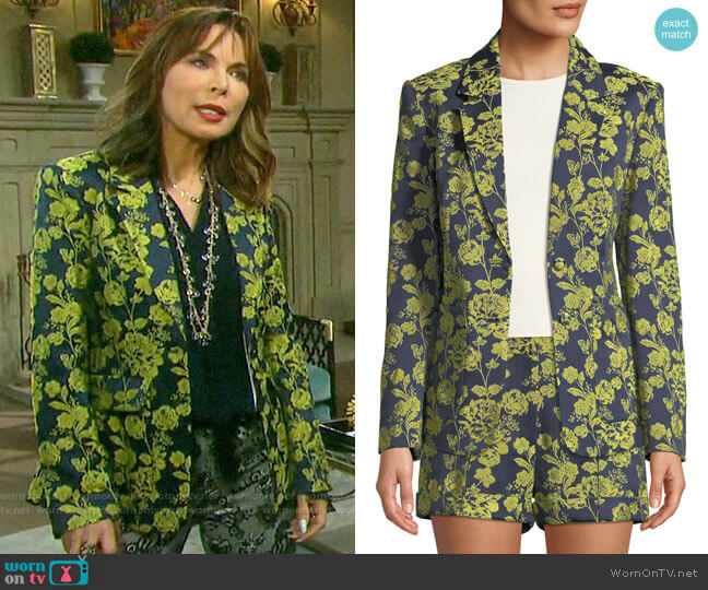 Cinq a Sept Janae Floral Jacket worn by Kate Roberts (Lauren Koslow) on Days of our Lives