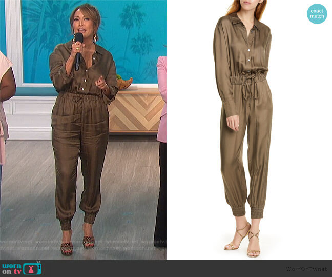 Joyce Twill Jumpsuit Jumpsuit by Cinq a Sept worn by Carrie Inaba  on The Talk