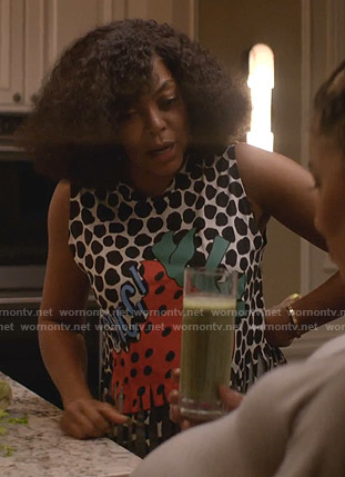 Cookie's strawberry print tank top on Empire