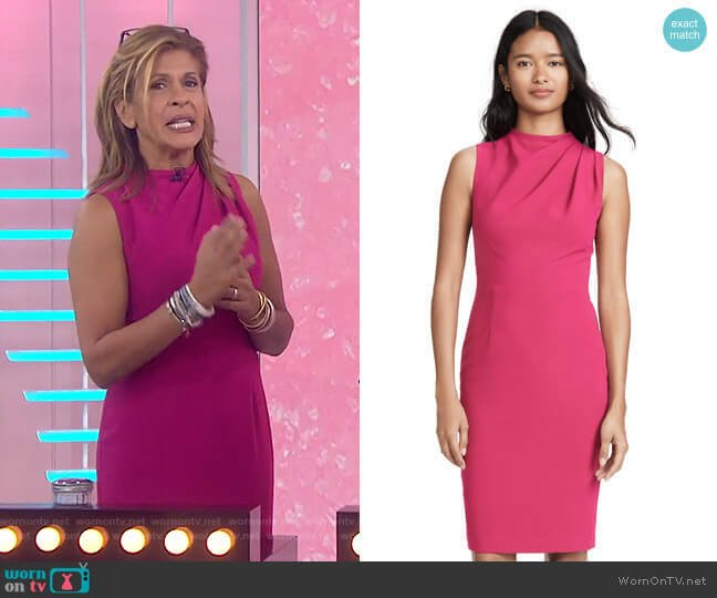 Corrine Sheath Dress by Black Halo worn by Hoda Kotb  on Today