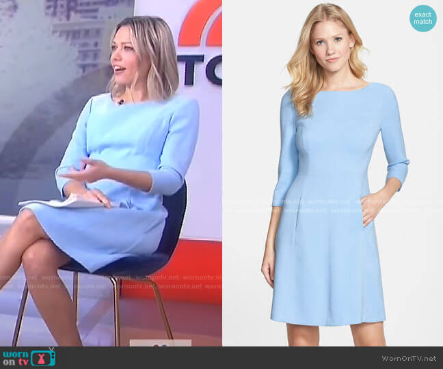Crepe A-Line Dress by Vince Camuto worn by Dylan Dreyer  on Today