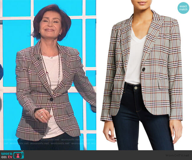 Plaid Twill Blazer by Derek Lam 10 Crosby worn by Sharon Osbourne  on The Talk