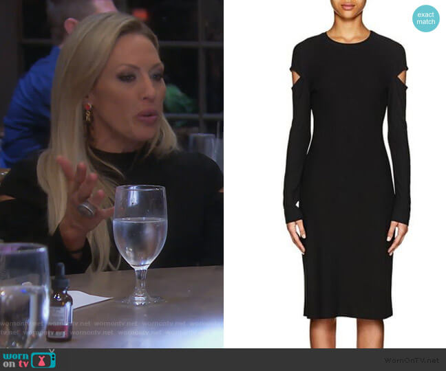 Cutout Sheeth Dress by Derek Lam worn by Braunwyn Windham-Burke  on The Real Housewives of Orange County