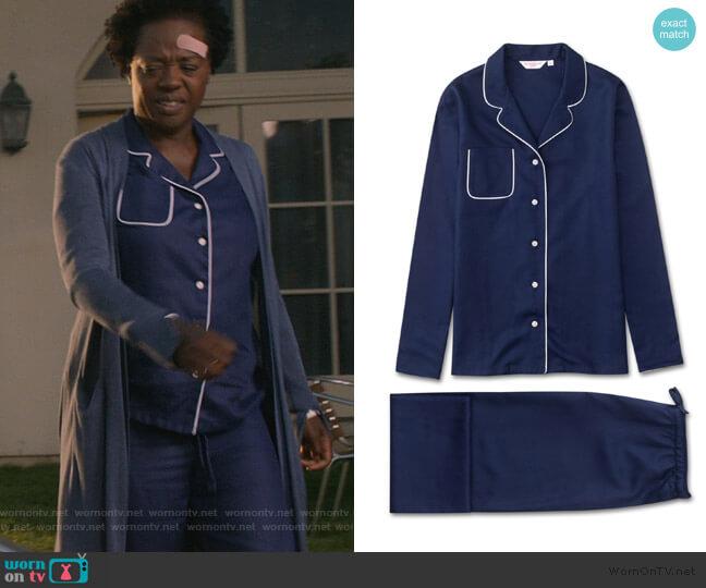 Lombard 6 Pure Jacquard by Derek Rose worn by Annalise Keating (Viola Davis) on HTGAWM