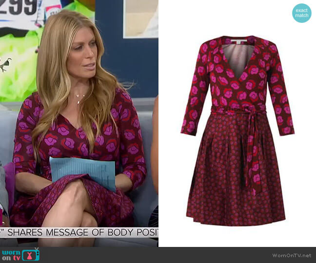 Jewel Wrap Dress by Diane Von Furstenberg worn by Jill Martin  on Today