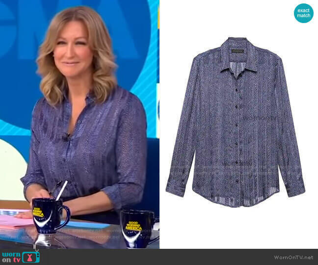 Dillon Shirt by Banana Republic worn by Lara Spencer  on Good Morning America