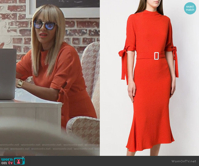 Belted Dress by Edeline Lee worn by Giselle (Nicole Ari Parker) on Empire