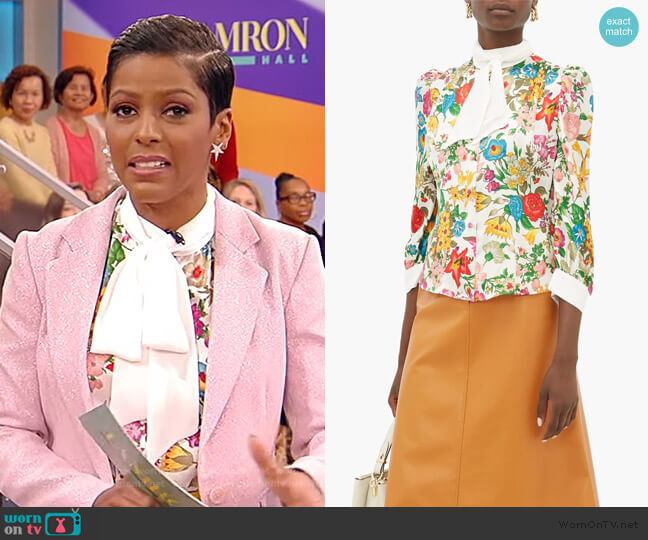 Dia floral-print silk blouse by Edeltrud Hofmann worn by Tamron Hall  on Tamron Hall Show