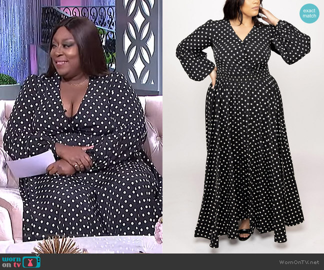 Endless Dots Dress by Eleven 60 worn by Loni Love  on The Real