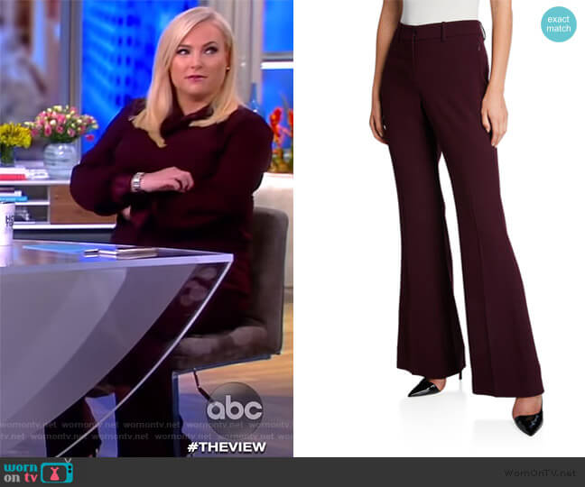 Anna Flared-Leg Pants by Elie Tahari worn by Meghan McCain  on The View
