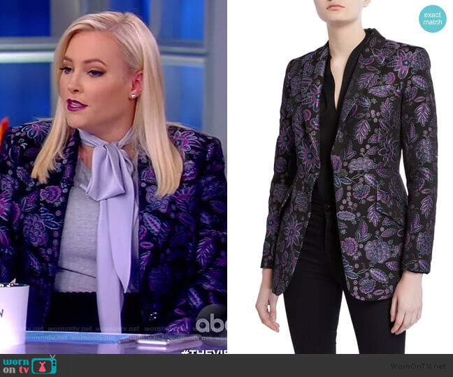 Madison Floral Embroidered Jacket by Elie Tahari worn by Meghan McCain  on The View