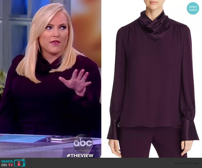 Nathalie Silk Blouse by Elie Tahari worn by Meghan McCain  on The View