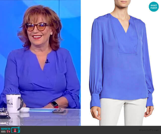Reva Blouse by Elie Tahari worn by Joy Behar  on The View