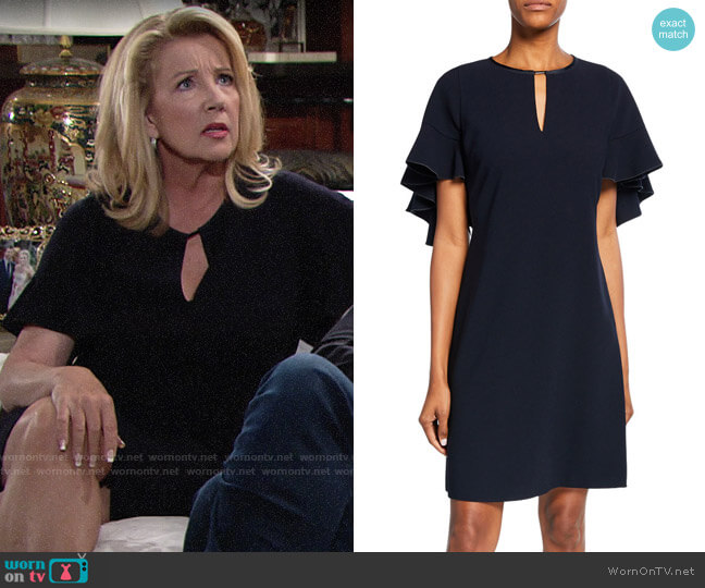 Elie Tahari Theodore Dress worn by Nikki Reed Newman (Melody Thomas-Scott) on The Young & the Restless