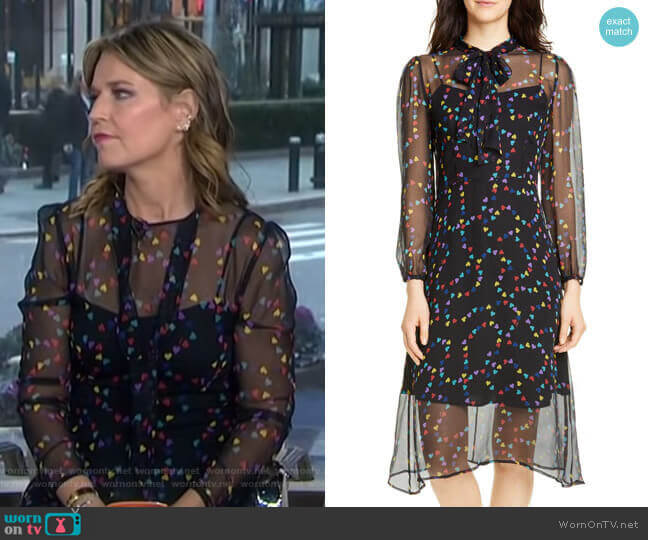 Elisa Dress by HVN worn by Savannah Guthrie  on Today