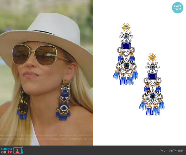 Tutti Earrings by Elizabeth Cole worn by Stephanie Hollman  on The Real Housewives of Dallas