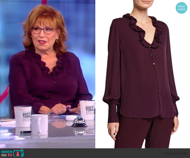 Azra Silk Blouse by Elie Tahari worn by Joy Behar  on The View