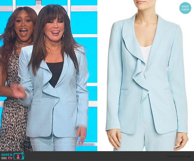 Siyah Ruffle-Trim Blazer by Elie Tahari worn by Marie Osmond  on The Talk