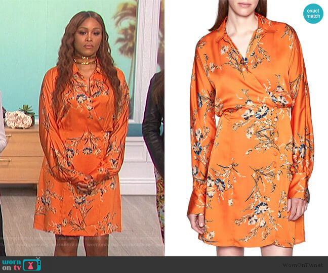 Harmon Shirtdress by Equipment worn by Eve  on The Talk