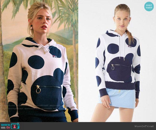 FILA + Pierre Cardin Polka Dot Hoodie Sweatshirt worn by Astrid (Lucy Boynton) on The Politician