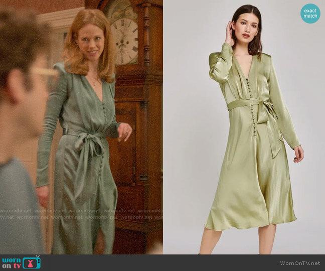 Ghost London Meryl Dress worn by Gemma (Zoe Boyle) on Four Weddings & a Funeral